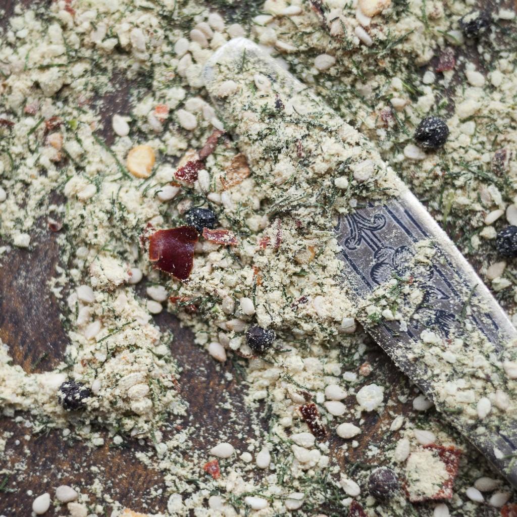 Pikantais garšvielu maisījums jūras produktiem